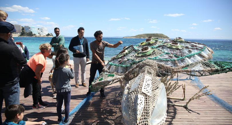 We inaugurate the exhibition of 3 giant sculptures in Smart Island World Congress