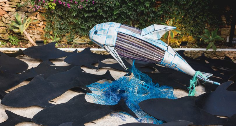 Cadena Ser-The campus of the UIB hosts 3r Project, a sample of three large-scale sculptures created from garbage collected from the Balearic Sea