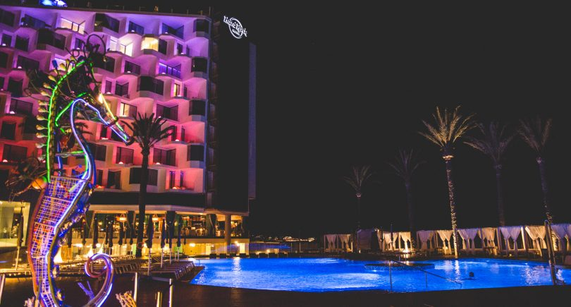 The International Music Summit hosts 3r Project at the Hard Rock Hotel in Ibiza